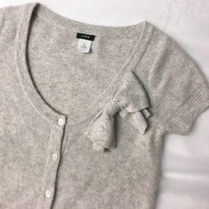 J CREW dream valerie bow cardigan sweater XS